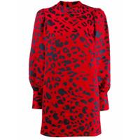 Andamane Vestido Animal Print - Vermelho