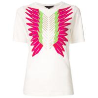 Manish Arora Camiseta Bordada Com Cristais - Branco