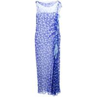 Emanuel Ungaro Vestido Floral De Seda - Azul