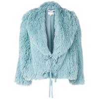 Patrizia Pepe Faux Fur Jacket - Azul