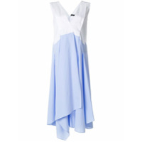 Jil Sander Navy Vestido Com Contraste - Azul