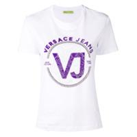 Versace Jeans Camiseta Com Logo E Aplicações - Branco