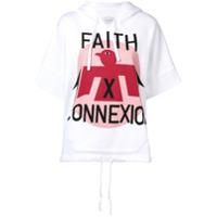 Faith Connexion Moletom De Manga Curta Com Logo - Branco