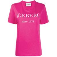 Iceberg Camiseta Com Estampa De Logo - Rosa