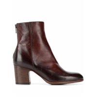 Pantanetti Stacked Heel Ankle Boots - Marrom