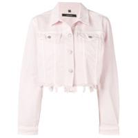 J Brand Jaqueta Jeans Com Detalhes Puídos - Rosa