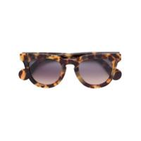 Moncler Eyewear Óculos De Sol Quadrado - Marrom