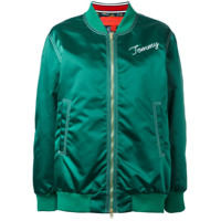 Hilfiger Collection Jaqueta Bomber Com Logo - Verde