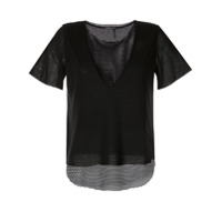 Koral Double Layered T-Shirt - Preto