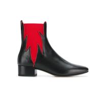 Francesco Russo Ankle Boot De Couro - Preto