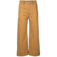 Apiece Apart Cropped Straight-Cut Trousers - Laranja