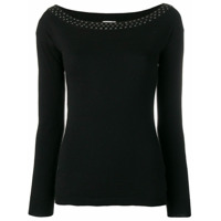 Liu Jo Long Sleeved Stretch Top - Preto