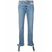Msgm Calça Jeans Reta - Azul