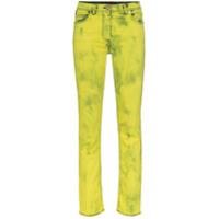 Versace Calça Jeans Skinny Com Logo - Amarelo