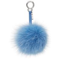 Fendi Pingente De Pompom - Azul