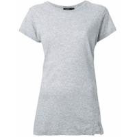 Bassike Camiseta Mangas Curtas - Cinza