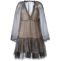 Stella Mccartney Vestido Mini Translúcido - Preto
