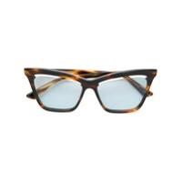 Mcq By Alexander Mcqueen Eyewear Armação De Óculos Gatinho - Marrom
