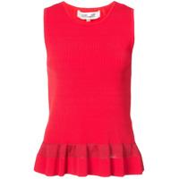 Dvf Diane Von Furstenberg Blusa Canelada - Vermelho