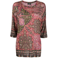 Etro Suéter Com Padronagem Paisley Floral - Rosa