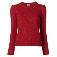 Isa Arfen Speckle Detail Sweater - Vermelho
