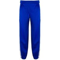Neil Barrett Calça Esportiva Cropped Com Detalhe De Listra - Azul