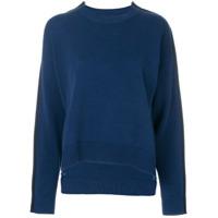 Mm6 Maison Margiela Suéter Assimétrico Com Listra Lateral - Azul