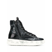 White Premiata Edith High Top Sneakers - Preto