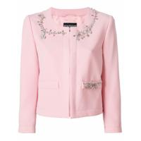 Boutique Moschino Jaqueta Com Aplicações - Rosa