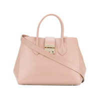Furla Bolsa Tote De Couro - Pink