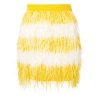 Msgm Minissaia Com Plumas - Amarelo