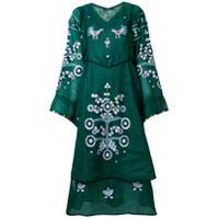 Vita Kin Vestido De Linho Floral - Verde