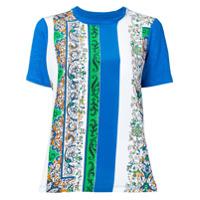 Tory Burch Camiseta Com Estampa Paisley - Azul