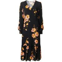 Mcq Alexander Mcqueen Vestido Floral - Preto