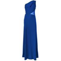 Alberta Ferretti Vestido De Festa Um Ombro Só - Azul