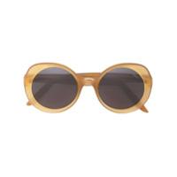 Lapima Óculos De Sol Arredondado - Amarelo