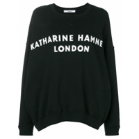 Katharine Hamnett London Moletom Com Estampa De Logo - Preto