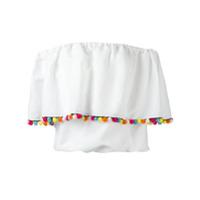 Forte Dei Marmi Couture Blusa 'carmen Pompom' - Branco