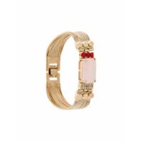Iosselliani Pulseira 'elegua' Banhada A Ouro Com Quartzo Rosa - Metálico