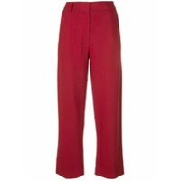 Khaite Calça Pantalona De Alfaiataria - Vermelho
