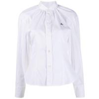 Vivienne Westwood Anglomania Camisa Com Franzido Na Gola - Branco