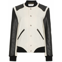 Saint Laurent Jaqueta Bomber 'heaven' - Branco