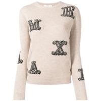 Max Mara Suéter Com Logo Bordado - Neutro