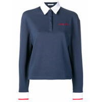 Tommy Jeans Camisa Polo Mangas Longas - Azul