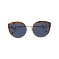 Fendi Eyewear Óculos De Sol Gatinho - Dourado