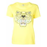 Kenzo Camiseta Com Estampa De Logo - Amarelo