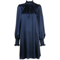 Adam Lippes Vestido Gola Alta - Azul