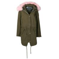 Moose Knuckles Fur Trim Hooded Parka Coat - Verde