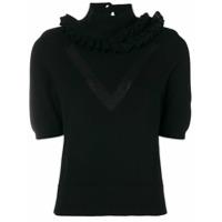 Barrie Suéter Em Cashmere Mangas Curtas - Preto