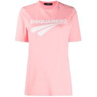 Dsquared2 Camiseta Com Estampa De Logo - Rosa
